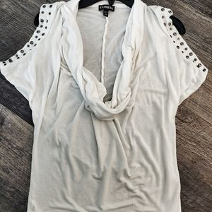 White scoop neck top Express xs